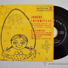 Discos de vinilo: JUEGOS INFANTILES - COMPAÑIA INFANTIL DE TELEVICENTRO (MEXICO) ¡¡NUEVO!! (RCA EP 1962) ESPAÑA. Lote 34753200