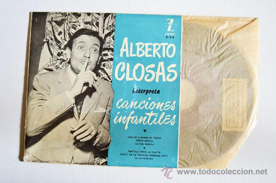 ALBERTO CLOSAS - CANCIONES INFANTILES SANTA MARTA… ¡¡NUEVO CON ENCARTE!! (ZAFIRO EP '5?) ESPAÑA (Música - Discos de Vinilo - EPs - Música Infantil)