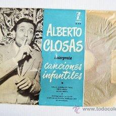 Discos de vinilo: ALBERTO CLOSAS - CANCIONES INFANTILES SANTA MARTA… ¡¡NUEVO CON ENCARTE!! (ZAFIRO EP '5?) ESPAÑA. Lote 34753854