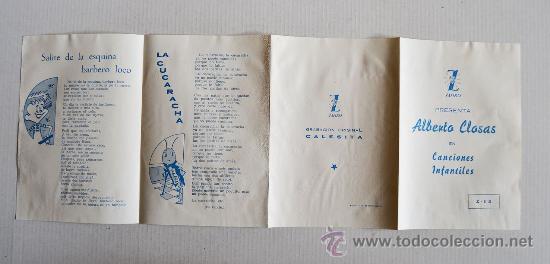 Discos de vinilo: ALBERTO CLOSAS - CANCIONES INFANTILES Santa Marta… ¡¡NUEVO CON ENCARTE!! (ZAFIRO EP 5?) ESPAÑA - Foto 3 - 34753854