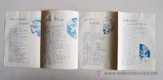 Discos de vinilo: ALBERTO CLOSAS - CANCIONES INFANTILES Santa Marta… ¡¡NUEVO CON ENCARTE!! (ZAFIRO EP 5?) ESPAÑA - Foto 4 - 34753854