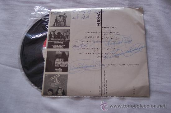 Discos de vinilo: QUARTET CLARA SCHUMANN (1966) Ep 6 TEMAS NADAL BLANC cantan CATALAN raro - Foto 2 - 34755870