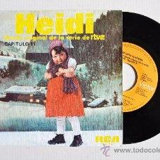 Discos de vinilo: HEIDI - BANDA ORIGINAL DE LA SERIE DE RTVE/CAPITULO 11 ¡¡NUEVO!! (RCA SINGLE 1975) ESPAÑA. Lote 34756083