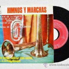Discos de vinilo: HIMNOS Y MARCHAS - GRAN BANDA MILITAR CON COROS ¡¡NUEVO!! (ZAFIRO EP 1965) ESPAÑA. Lote 34757154