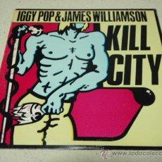 Discos de vinilo: IGGY POP & JAMES WILLIAMSON ( KILL CITY ) USA - 1977 VINILO COLOR VERDE LP33 BOMP RECORDS. Lote 34760775
