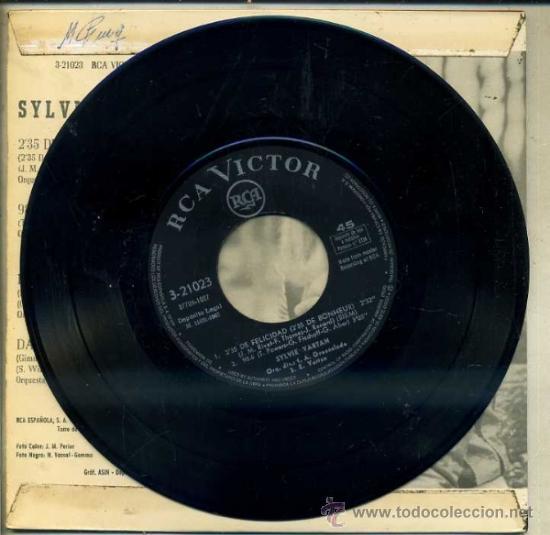 Discos de vinilo: SYLVIE VARTAN : 2,35 DE FELICIDAD / 98.6 / DOS MANOS / DAME ALGO DE AMOR (RCA, 1967) - Foto 2 - 34755558