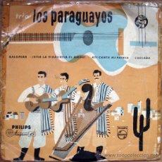 Discos de vinilo: LOS PARAGUAYOS. GALOPERA/VIVA LA VIDA/ASI CANTA MI PATRIA/CASCADA. SINGLE 1958. Lote 34767051
