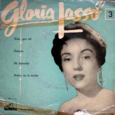 Discos de vinilo: GLORIA LASO. HOLA QUE TAL/DOLORES/MI DEMONIO/BOLERO EN LA NOCHE. SINGLE 1960. Lote 34771837