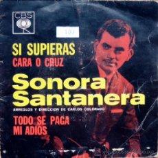 Discos de vinilo: SONORA SANTANERA. SINGLE HECHO EN MEXICO CBS. Lote 34782279