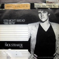 Discos de vinilo: THE NICK STRAKER BAND. STRAIGHT AHEAD / STRAIGHT AHEAD (INSTRUMENTAL). SINGLE 1983 MOVIEPLAY. Lote 34783090