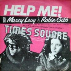 Discos de vinilo: MARCY LEVY & ROBIN GIBB. HELP ME / HELP ME (INSTRUMENTAL). SINGLE 1981 RSO. Lote 34783483