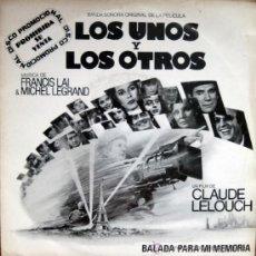 Discos de vinilo: LOS UNOS Y LOS OTROS. BANDA SONORA 1982. Lote 34786436