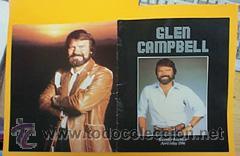 GLEM CAMPBELL / RARO PROGRAMA OFICIAL UK / TOUR BOOK, 20 PAGINAS !! COLLECTORS !!!!! (Música - Discos - LP Vinilo - Pop - Rock Extranjero de los 50 y 60)