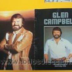Discos de vinilo: GLEM CAMPBELL / RARO PROGRAMA OFICIAL UK / TOUR BOOK, 20 PAGINAS !! COLLECTORS !!!!! . Lote 34788319