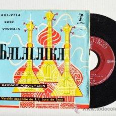 Discos de vinilo: LUIS SAGI-VELA - OPERETA BALALAIKA ¡¡NUEVO!! (ZAFIRO EP 1959) ESPAÑA. Lote 38367088