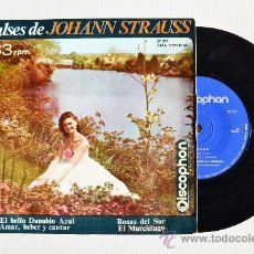 Discos de vinilo: VALSES DE JOHANN STRAUSS - EL BELLO DANUBIO AZUL/EL MURCIELAGO… (DISCOPHON EP 1964) ESPAÑA. Lote 34795133