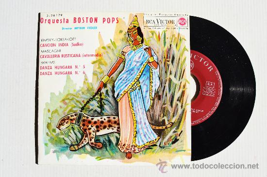 ORQUESTA BOSTON POPS - ARTHUR FIEDLER CANCION INDIA… ¡¡NUEVO!! (RCA EP 1962) ESPAÑA (Música - Discos de Vinilo - EPs - Orquestas)
