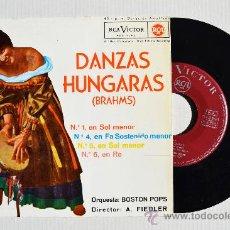 Discos de vinilo: ORQUESTA BOSTON POPS - ARTHUR FIEDLER DANZAS HUNGARAS… ¡¡NUEVO!! (RCA EP 1962) ESPAÑA. Lote 34806220
