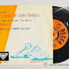 Disques de vinyle: EL LAGO DE LOS CISNES-TCHAIKOWSKY E. ANSERMET/ORQ. SUISSE ROMANDE ¡¡NUEVO!! (DECCA EP 1960) ESPAÑA. Lote 34812274