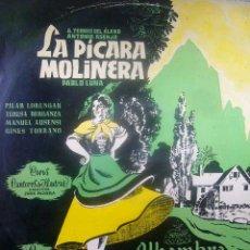 Discos de vinilo: LP ZARZUELA LA PICARA MOLINERA ORQUESTA SINFONICA DIRECTOR MAESTRO CISNEROS ALHAMBRA 1964 MBE. Lote 34846405