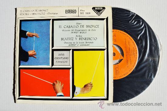 SERIE DE OBERTURAS FAMOSAS - AUBER/BERLIOZ ¡¡NUEVO!! (DECCA EP 1960) ESPAÑA (Música - Discos de Vinilo - EPs - Clásica, Ópera, Zarzuela y Marchas)