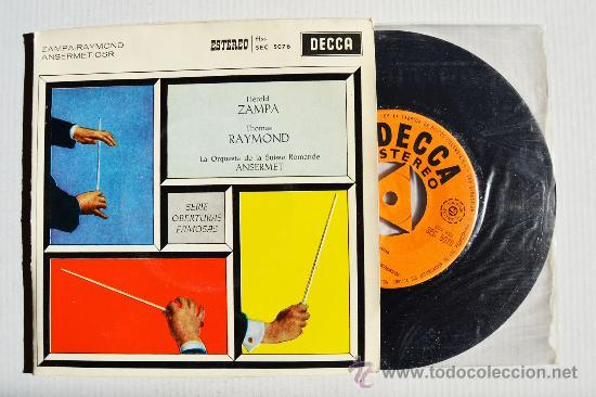 SERIE DE OBERTURAS FAMOSAS - ERNEST ANSERMET ¡¡NUEVO!! (DECCA EP 1960) ESPAÑA (Música - Discos de Vinilo - EPs - Clásica, Ópera, Zarzuela y Marchas)