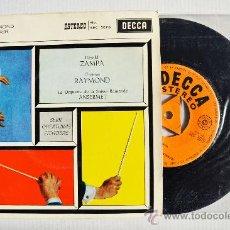 Discos de vinilo: SERIE DE OBERTURAS FAMOSAS - ERNEST ANSERMET ¡¡NUEVO!! (DECCA EP 1960) ESPAÑA. Lote 34851499