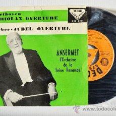 Discos de vinilo: ERNEST ANSERMET - BEETHOVEN / WEBER ORQ. SUISSE ROMANDE ¡¡NUEVO!! (DECCA EP 1959) ESPAÑA. Lote 34851704