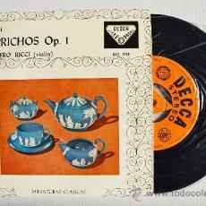 Discos de vinilo: RUGGIERO RICCI - PAGANINI CAPRICHOS ¡¡NUEVO!! (DECCA EP 1961) ESPAÑA. Lote 34851785