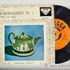Discos de vinilo: OCTETO DE VIENA - MOZART DIVERTIMENTO Nº1 ¡¡NUEVO!! (DECCA EP 1960) ESPAÑA. Lote 34852163