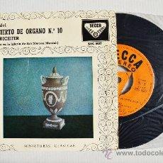 Discos de vinilo: KARL RICHTER - HAENDEL CONCIERTO DE ORGANO Nº10 ¡¡NUEVO!! (DECCA EP 1959) ESPAÑA. Lote 34852240