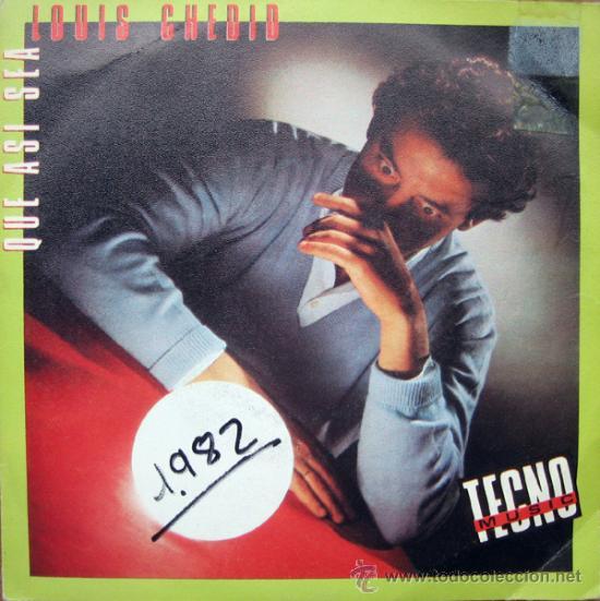LOUIS CHEDID. AINSI SOIT-IL/DANS LES JARDINS DE LA VILLE ROSE. SINGLE 1982 CBS PROMOCIONAL (Música - Discos - Singles Vinilo - Techno, Trance y House)