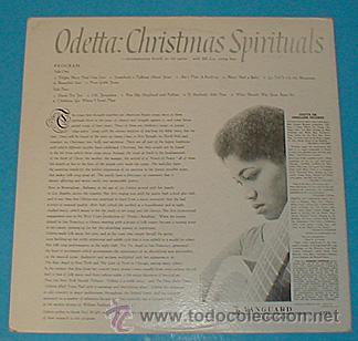 Discos de vinilo: ODETTA / Odetta sings Christmas spirituals 1960 , GOSPEL !! VANGUARD 1ª ORIG. EDIT. USA !!!! - Foto 4 - 34859965