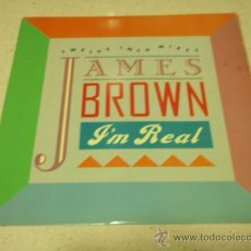 Discos de vinilo: JAMES BROWN ( I'M REAL - REAL (F.F. HYPED-UP MIX) - TRIBUTE ) USA-1988 MAXI33 SCOTTI RECORDS. Lote 34864183