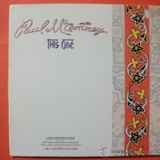 Discos de vinilo: PAUL MCCARTNEY CARPETA EDICION LIMITADA SINGLE THIS ONE+THE LONG & WINDING ROAD + 6 POSTALES BEATLES. Lote 34897906