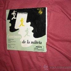 Discos de vinilo: CANCIONES DE LA MILICIA EP 8 TEMAS 421 283 PE PHILIPS . Lote 34899029