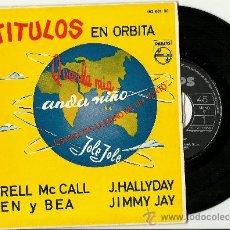 Discos de vinilo: 4 TITULOS EN ORBITA. DARREN MCCALL.JOHNNY HALLYDAY. BEN BEA. JIMMY JAY (VINILO SINGLE 1962). Lote 34902133