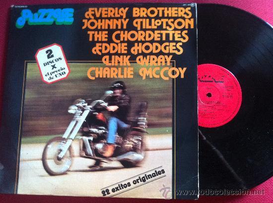 LP DOBLE PUZZLE-LINK WRAY-EVERLY BROTHERS-JOHNNY TILLOTSON.. VARIOS 22 HITS (Música - Discos - LP Vinilo - Pop - Rock - Extranjero de los 70)