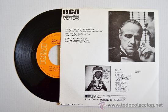 Discos de vinilo: RAFAEL FERRO Y ORQUESTA - Tema de amor de EL PADRINO ¡¡NUEVO!! (RCA Single 1972) ESPAÑA - Foto 2 - 34909992
