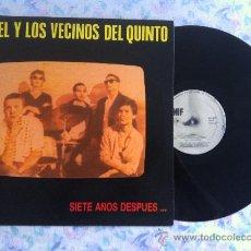 Discos de vinilo: LP ANGEL Y LOS VECINOS DEL QUINTO- SIETE AÑOS DESPUES. Lote 34911576