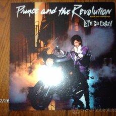 Discos de vinilo: PRINCE AND THE REVOLUTION - LET´S GO CRAZY + EROTIC CITY . Lote 34950744