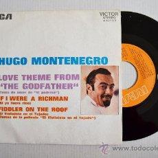 "Discos de vinilo: HUGO MONTENEGRO - TEMA DE AMOR DE ""EL PADRINO"" ¡¡NUEVO!! (RCA SINGLE 1972) ESPAÑA. Lote 34923735"