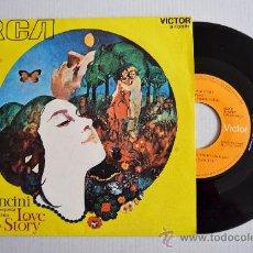 Discos de vinilo: HENRY MANCINI - LOVE STORY ¡¡NUEVO!! (RCA SINGLE 1971) ESPAÑA. Lote 34926986