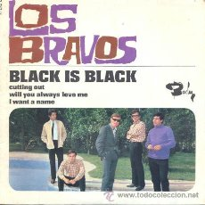 Discos de vinilo: LOS BRAVOS - BLACK IS BLACK - EP RARISIMO DE VINILO EDITADO EN FRANCIA. Lote 34937556