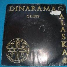 Discos de vinilo: SINGLE VINILO DE DINARAMA CRISIS.. Lote 34943151
