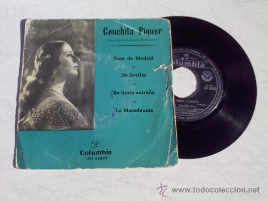 CONCHITA PIQUER..ROSA DE MADRID.DE SEVILLA.EN TIERRA EXTRAÑA.LA MAREDEUETA (Música - Discos de Vinilo - EPs - Flamenco, Canción española y Cuplé)