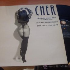 Discos de vinilo: CHER ( THE SHOOP SHOOP SONG ) MAXI-SINGLE 1993 ESPAÑA. RARO SEXY COVER (G-2). Lote 34947127