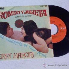 Discos de vinilo: HENRY MANCINI Y SU ORQUESTA.TEMA DE AMOR DE ROMEO Y JULIETA.THE WINDMILLS OF YOUR MIND. Lote 34948464