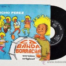 Discos de vinilo: LUCHO PEREZ - LA BANDA BORRACHA ¡¡NUEVO!! (RCA SINGLE 1966) ESPAÑA. Lote 34952482