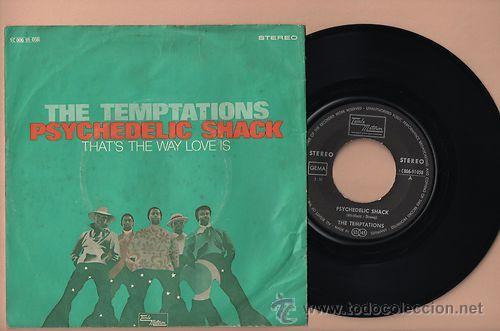 THE TEMPTATIONS PSICHEDELIC SHACK 7 SINGLE 45 VINILO (Música - Discos - Singles Vinilo - Funk, Soul y Black Music)